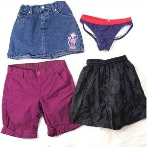 6/6X Shorts Skort Bikini Bottom +3 bonus tank tops